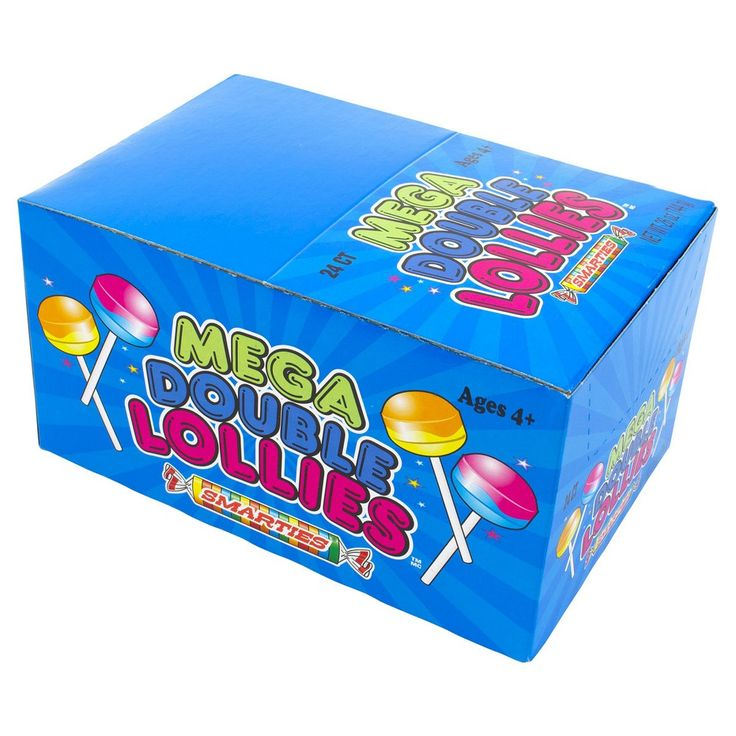 Mega Double Lollies Box 24 Count Box