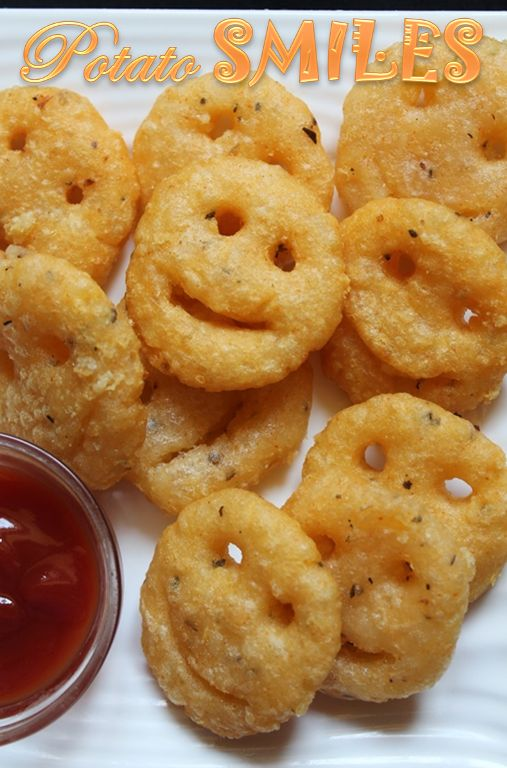 YUMMY TUMMY: Homemade Potato Smiley Recipe / Potato Smiles Recipe