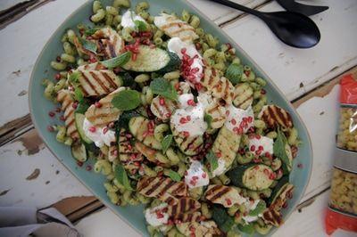 Adam Swanson's recipe for his Zucchini & Haloumi Pesto Pasta