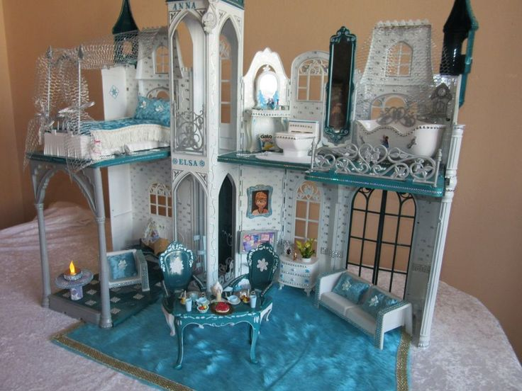 Eispalast Elsa Anna Schloss Unikat Barbie Villa Frozen Eisprinzessin