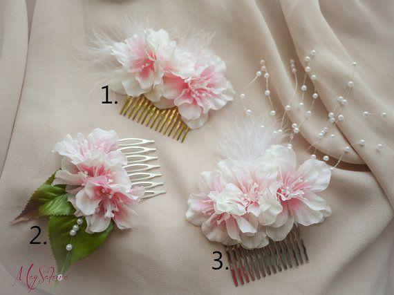 SALE 20 OFFRomantic Cherry Blossom Wedding Hair Comb by MaySakura, $20.00