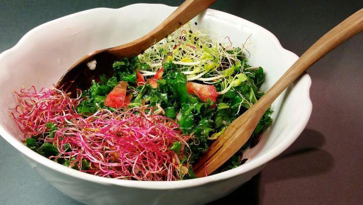 Salade de chou kale - Mariatotal