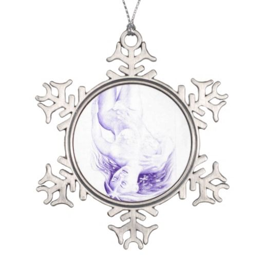 Winter fantasy snowflake pewter christmas ornament