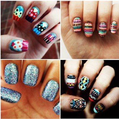 Bright nails = Summer staple.