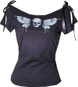 Skull Butterfly shirt
