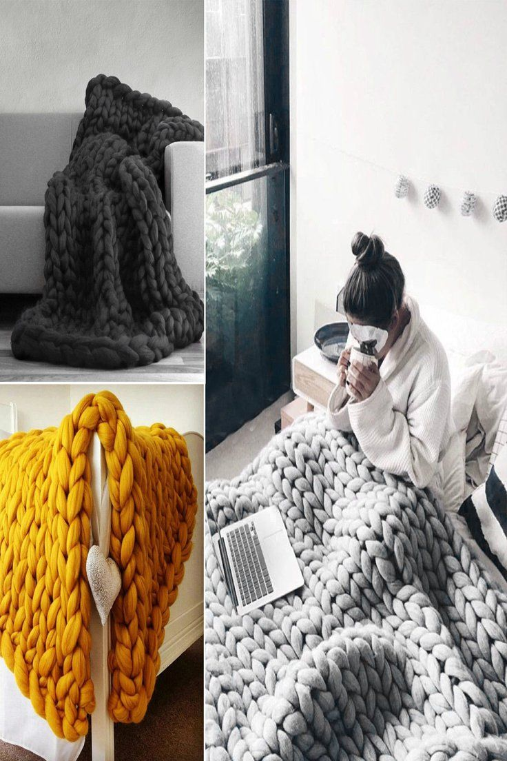 Details About Uk Wool Chunky Knitted Thick Blanket Yarn Bulky Knit Throw Sofa Blanket 3 Sizes Knitted Throws Sofa Blanket Thick Blanket