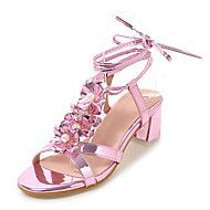 Women's Sandals Spring Summer Club Shoes Comfort Leatherette Outdoor Dress Chunky Heel Applique Sequin Imitation Pearl – CAD $ 78.41