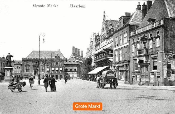 Haarlem: De Grote Markt omstreeks 1903