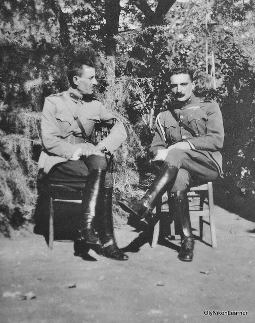 Greek army officers during the Asia Minor campaign c. 1920.