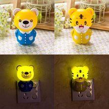 Icoco novelty бытовые ночное освещение лампы творческий красочный дизайн животных милый медведь/тигр эмоциональные лампы детские bedlight
