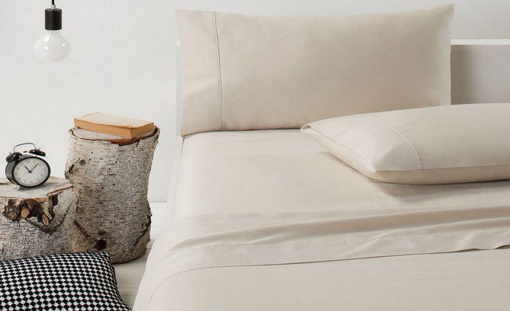 Designers Choice 30% off Designers Choice 370TC Cotton Sateen Cream Sheet Set