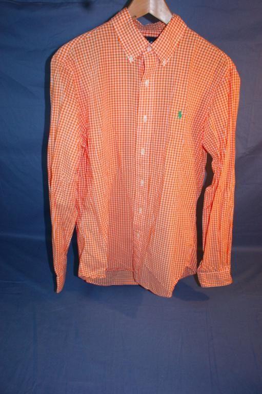 Annons på Tradera: Skjorta, Ralph Lauren, Orangerutig, Strl: M, Fint Skick!