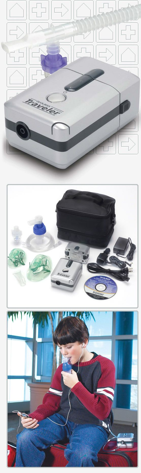 TRAVELER PORTABLE COMPRESSOR MACHINE KIT WITH NEBULIZERS http://www.directhomemedical.com/6910p-dr-traveler-portable-compressor-nebulizer.html#.VzN8TGPTy-I