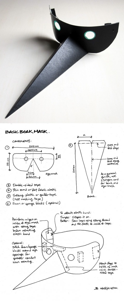 If you're feeling like your beak ought to have a mask - this one is for you! DIY Beak Mask.