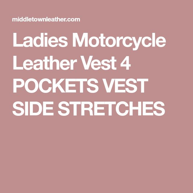 Ladies Motorcycle Leather Vest 4 POCKETS VEST SIDE STRETCHES