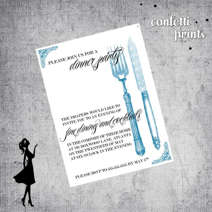 The 28 best Dinner Party Invitations images on Pinterest Dinner