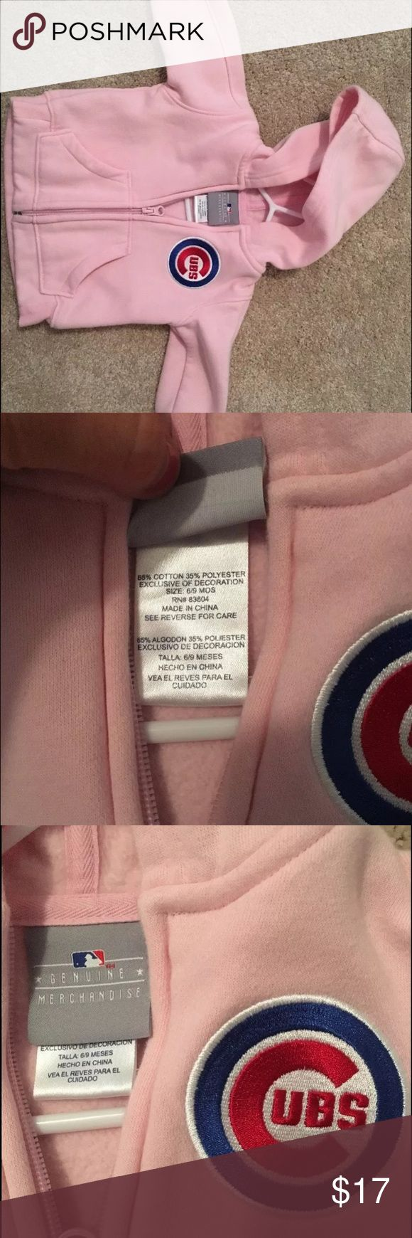 6/9 months pink Cubs jacket Worn once, great condition! Jackets & Coats
