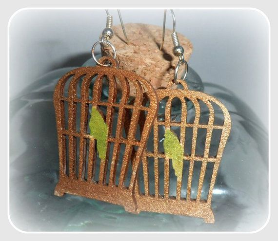 Bird cage earringswith silver sterling by CarmenHandCrafts on Etsy, €5.00