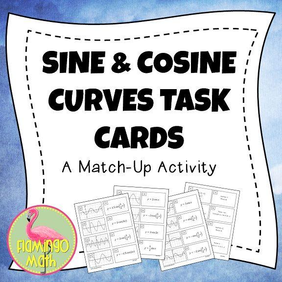 Sine and Cosine Match-Up Activity   Jean Adams Flamingo Math TPT