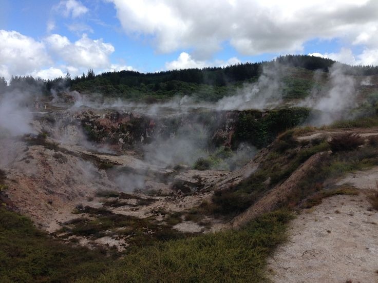 Craters of the moon in Taupo, New Zealand. You can wander through this active volcanic thermal zone. A must when visiting Taupo.
