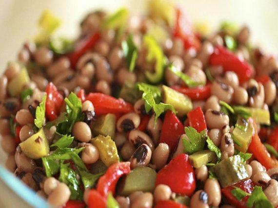 Black Eyed Pea Salad Recipe  PDF by TURKISHCUISINE on Etsy, $2.50