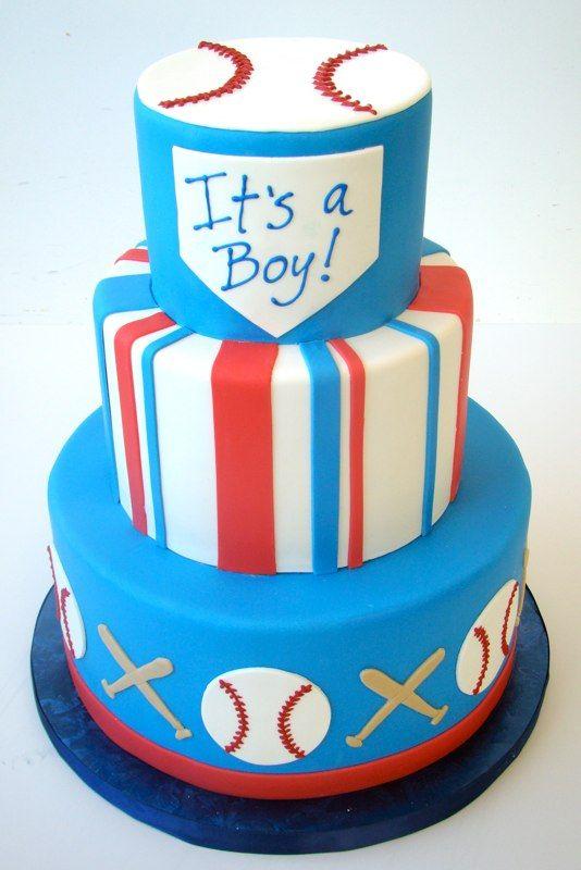 Baseball Baby Shower Cake, perfect for any boy who likes baseball