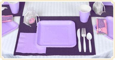 Lavender - Baby Shower Tableware