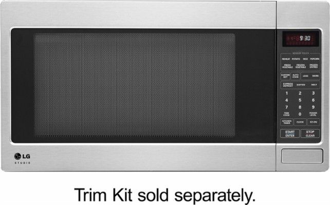 LG Studio - 2.0 Cu. Ft. Full-Size Microwave - Stainless Steel - Front Zoom