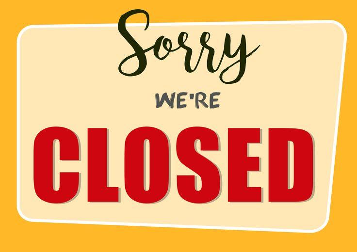 Closed sign.