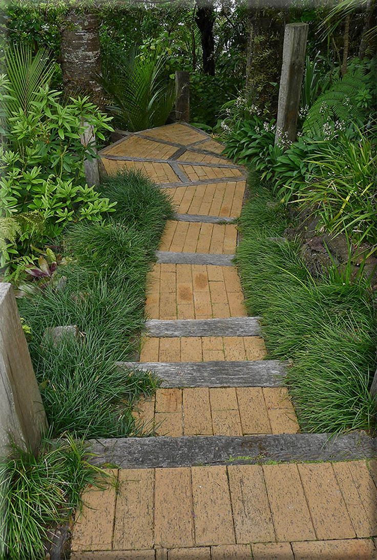 Titirangi brick and hardwood steps