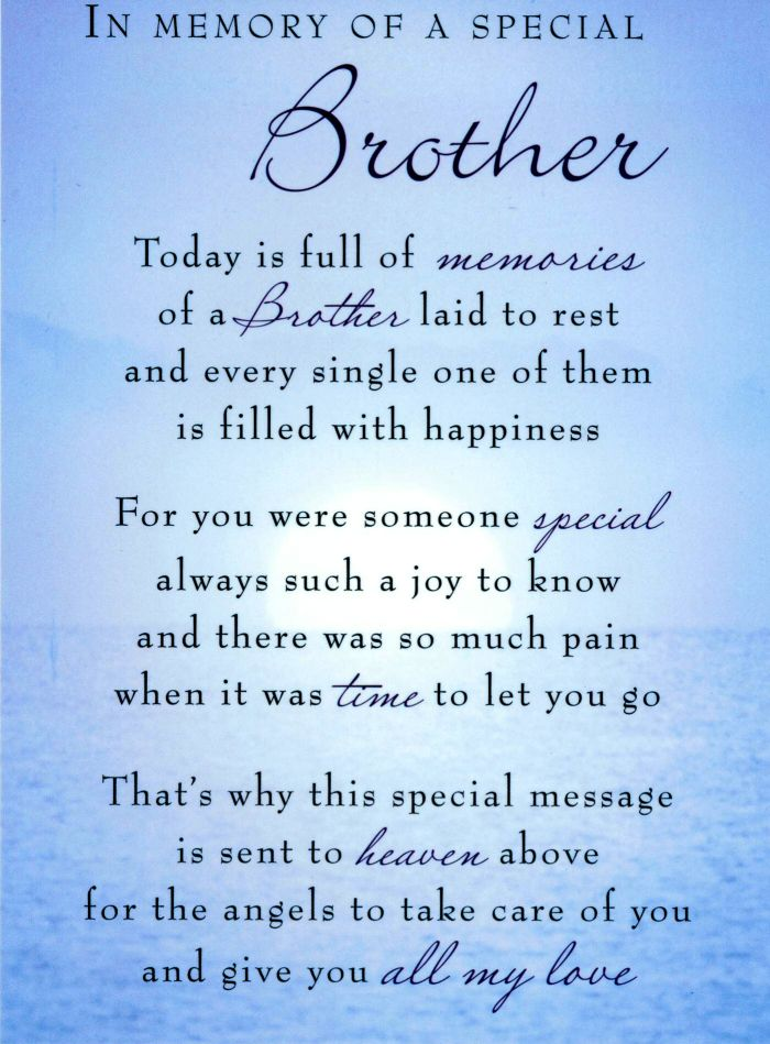 Remembering My Brother Who Passed Away Quotes