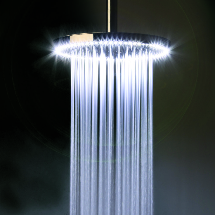 Add Innovative Light Therapy To Your Bathroom   Rio White LED Circular Shower  Head From Crosswater