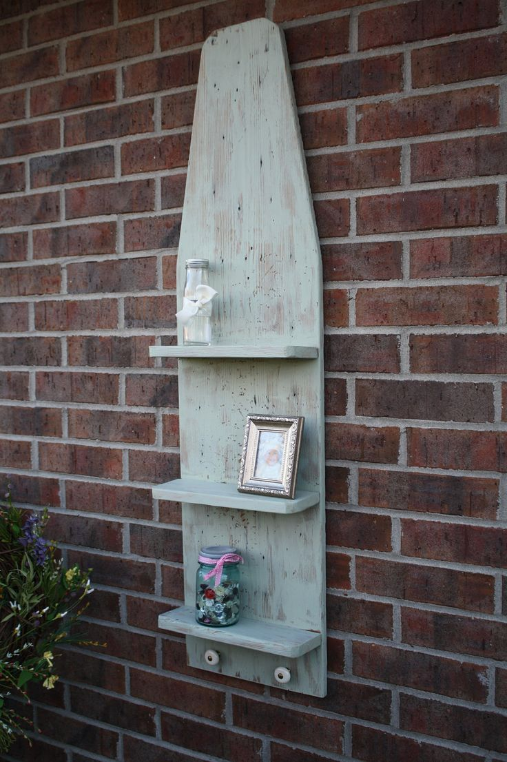 free images to paint on old ironing boards | Reclaimed and Recycled Ironing Board Shelves by timelessjourney