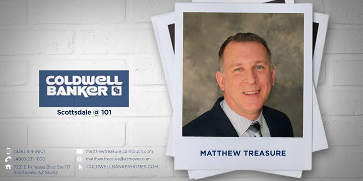 Please help us welcome Matthew Treasure to Coldwell Banker Residential Brokerage!   He can be reached at (928) 814-9901.  #ColdwellBankerArizona