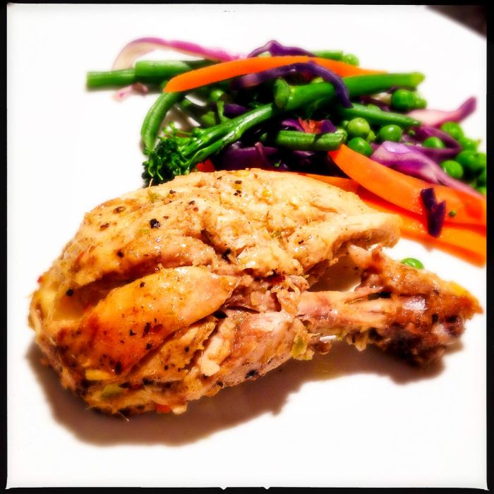This South African curried Durban-style roast chicken recipe from Madhur Jaffrey is a treat. #gluten-free #paleo #banting