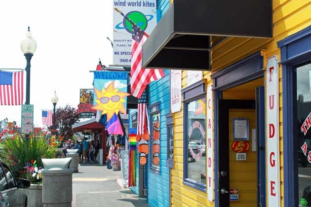 Long Beach, Washington - fun place to visit, lots of beach shops to browse through.