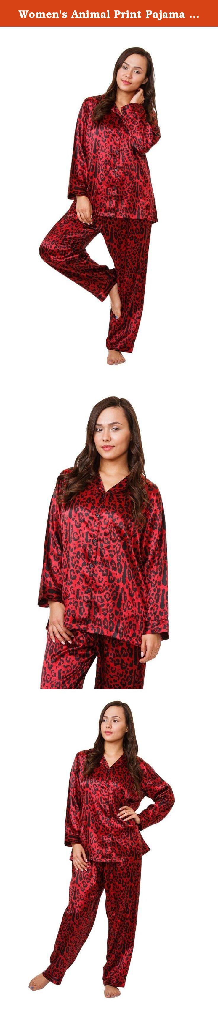 Women's Animal Print Pajama Set, 5 Prints in Classic Style, Up2date Fashion Style#PJ-12 (XL, Red Tiger). These top quality pajama sets are from up2date classic collection. You will love this unique prints which is available in five color choices. This PJ set is carefully tailored and will be delivered to you sealed packed with original tags. We will make sure that you are completely satisfied with your purchase. Please contact us if you have any questions or concerns.
