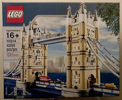 ﹩219.99. LEGO~CREATOR~TOWER BRIDGE~#10214~4295 PIECES~HUGE SET~NEW~FACTORY SEALED    Packaging - Box, Piece Count - 4295, LEGO Theme - Creator, Recommended Age Range - 16+