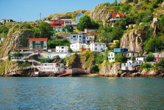 Colourful houses in Newfoundland