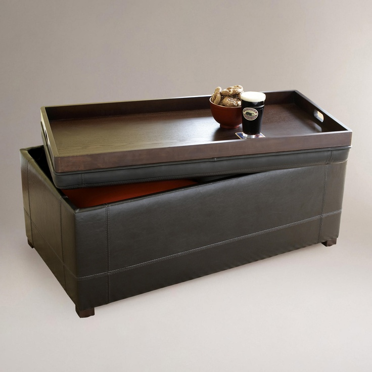 18 best leather coffee table/ottoman images on pinterest