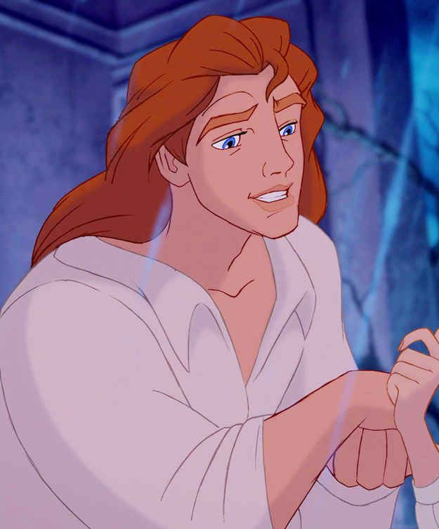 Prince Adam (the Beast) and his luscious locks are brought to life…