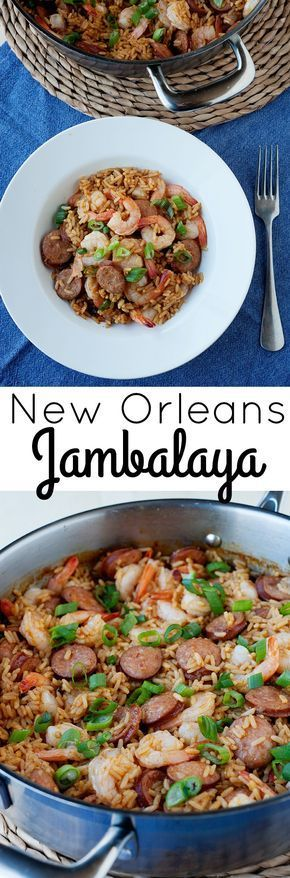Need a simple recipe for New Orleans Jambalaya? Check out how the locals make this classic, cajun dish. It's full seafood, sausage, rice, and a ton of flavor. Perfect for a #familydinner! #momables #dinnerrecipes