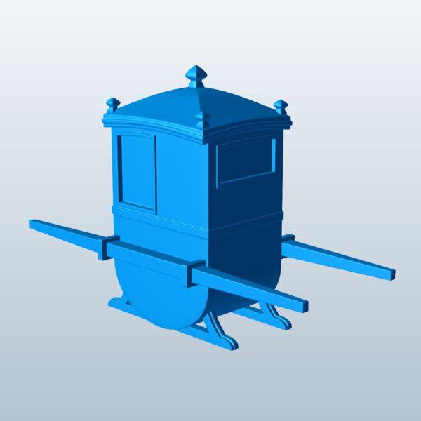 English Sedan Chair 3D Model Made with 123D MeshMixer
