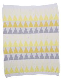 Dante Geometric Jaquard Striped Shawl: Yellows