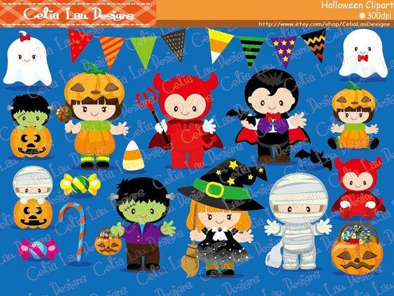 HALLOWEEN Halloween lindo bebé Digital Imágenes por CeliaLauDesigns
