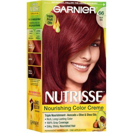 Garnier Nutrisse Nourishing Color Creme, 66 True Red