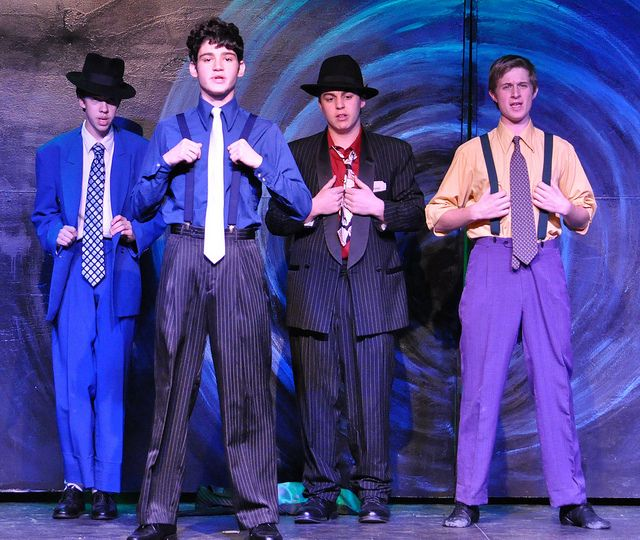 Guys and Dolls: The guys all togged up