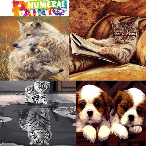 we have wide range of animals paintnumbers  pets like