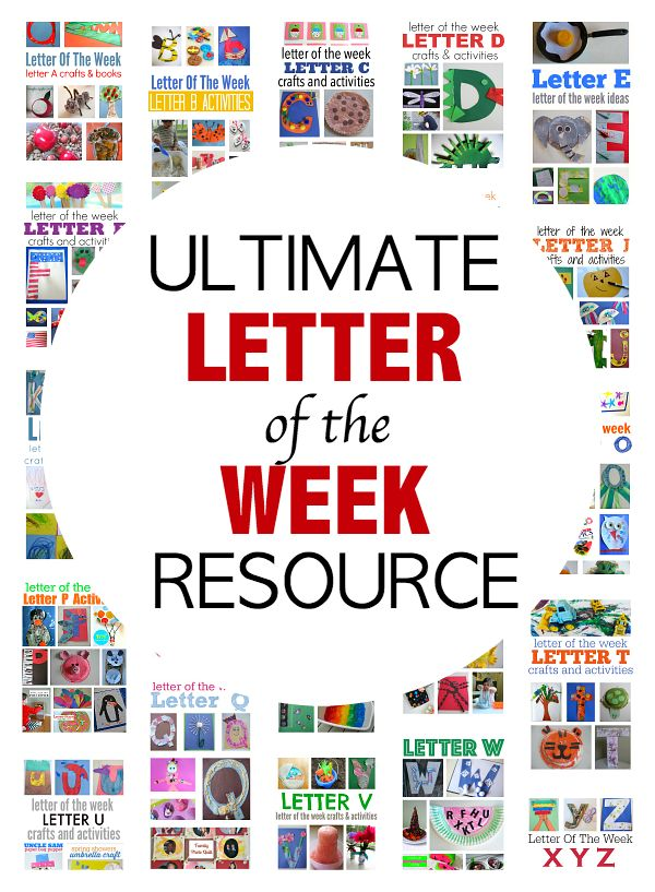 The ONLY letter of the week post you will need to create fun letter crafts and hands-on-fun while working on letter recognition.