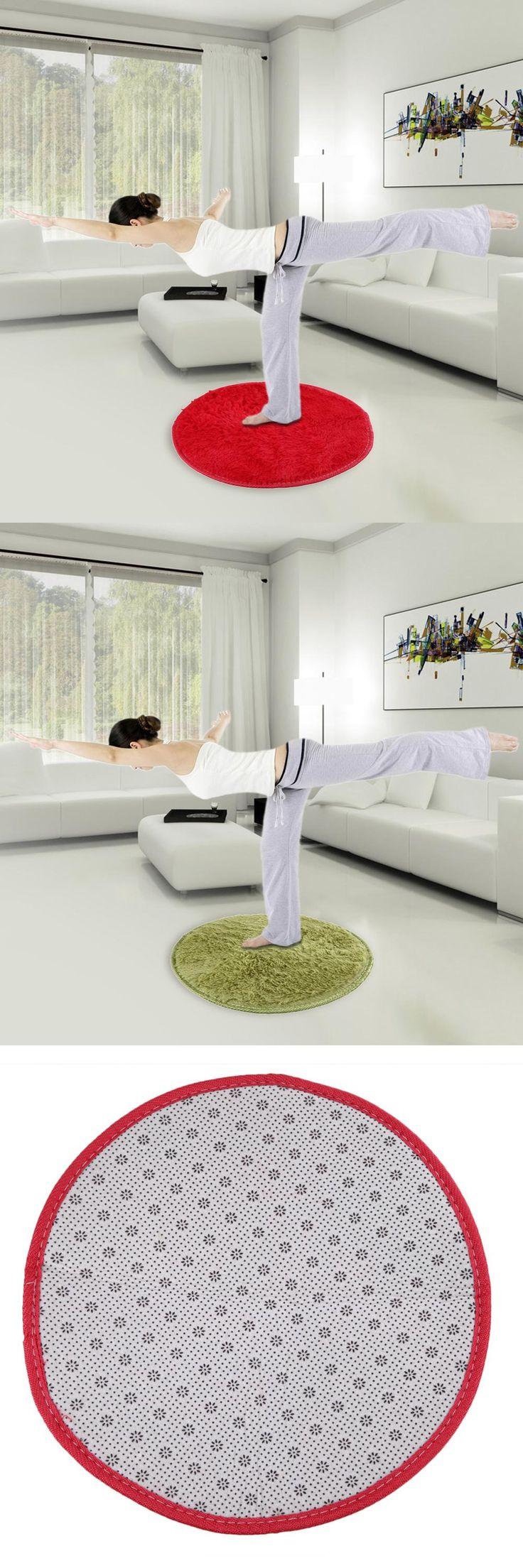 [Visit to Buy] 1pcs Plush Mat 42cm Fluffy Rug Round Foam Rug Non Slip Shower Bedroom Mat Door Floor Carpet 9 Colors Home Textile #Advertisement